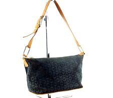 c3ebc920ed9 Authentic CELINE Macadam Dark green Suede Leather Semi Shoulder Purse Hand  Bag
