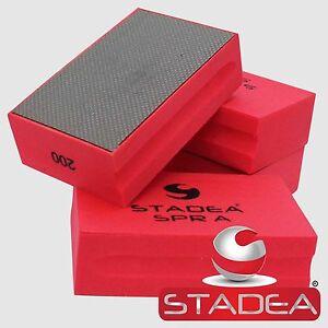 Stadea Diamond Hand Polishing Pads  Glass Stone Marble Sanding   Block Grit 200