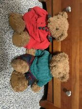 Russ Teddy Bears Holly + Hickory Stuffed Animals Vintage Collectable Bears