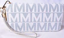 MKF Mia K Farrow Collection White Signature Danielle Wristlet Wallet >NEW<