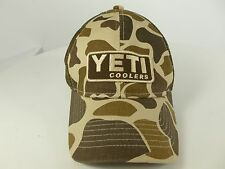 Men's Brown Camouflage Yeti Coolers Trucker Hat Cap Snapback
