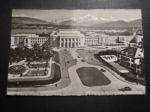 Cpsm Geneve Palace Of Un (UNC) * and The Mont-Blanc