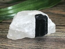 Rough Black Tourmaline Mineral Specimen Raw Gemstone Crystal Reiki Metaphysical.