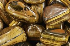 "Tigers Eye 2"" Tumbled Polished Solar Plexus Chakra Healing Reiki Crystal Gems"