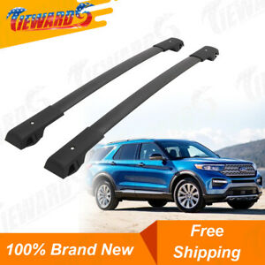 Skiboard Canoe Kayak Car Top Luggage Carrier Bar Black for Roof Cargo Bike EOTH Roof Rack Cross Bars Replacement for 2016-2019 Explorer