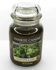 NEW YANKEE CANDLE 22 OZ GRAPEVINE & OAK FRUIT COLLECTION LARGE JAR CANDLE