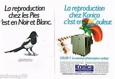 Publicité Advertising 1987 (2 pages) Le Photocopieur Color 7 Konica