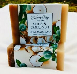 Shea & Coconut Homemade Soap / 2 Bars