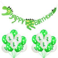 Dinosaurier Happy Birthday Banner Dinosaurier Luftballons Kinder Feier Deko HOT