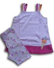 Completo top maglia ciclisti pantaloncini gelati GYMBOREE bimba bambina 6 anni