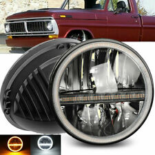 Halo 7 Inch Led Headlight For Ford Mustang 1965 1973 F 100 Pikcup Chevy Truck