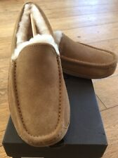UGG ASCOT CHESTNUT SUEDE SHEEPSKIN LINED SLIPPERS LOAFERS DRIVING MOC 8US NEW