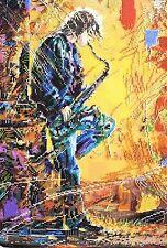 Saxophonist Stickpackung Stickbild Set Leinwand Perlen Bead embroidery kit 263