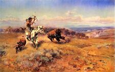 Handmade Oil Painting repro Charles M. Russell Horse of the Hunter