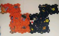 Vintage 1992, Wind Up Space Ships (2), Rover (1), And 4 Puzzle Track Toys NASA