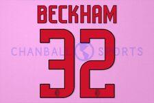 Beckham #32 2008-2009 AC Milan Awaykit Nameset Printing