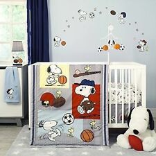 Bedtime Originals Snoopy Sports 3 Piece Nursery Crib Bedding Set