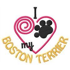 "I ""Heart"" My Boston Terrier Sweatshirt 1333-2 Sizes S - Xxl"