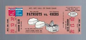 VINTAGE 1973 NEW ENGLAND PATRIOTS vs SAN FRANCISCO 49ERS  FULL FOOTBALL TICKET