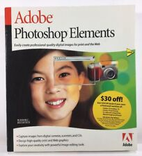 New Adobe Photoshop Elements Version 1.0 Windows/Mac Free Shipping