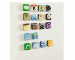 6 Pieces/set Mobile app Type Fridge  Whiteboard Refrigerator Magnet Memo Holder
