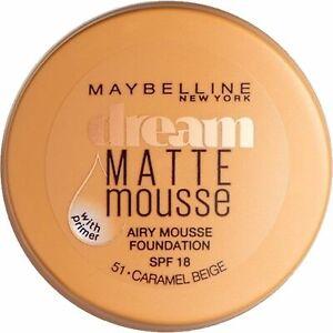 Maybelline Dream Matte Mousse Makeup Foundation With Primer 51Caramel Beige 18ml