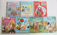 a little golden book lot of 7 picture books kids school learning barbie disney