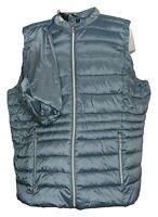 Nuage Women's Plus Sz 2X Zip-Font Puffer Vest Blue A375739