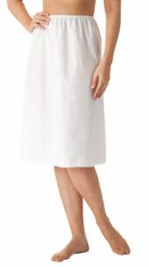 "Velrose Lingerie Cotton 27"" Half Slip Sizes Large to 3X White Style 1090"