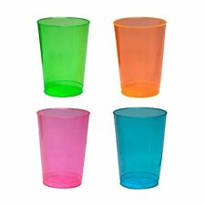 Party Essentials Hard Plastic 10 Ounce Cups Tumblers 100 Count Assorted Neon