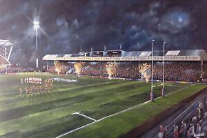 Leeds Rhinos South Stand  - 20'' x 30'' box canvas print