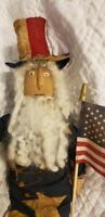 Primitive Handmade Americana Uncle Sam Doll
