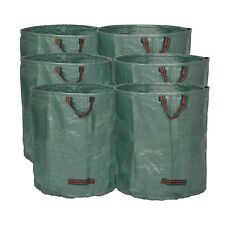 6x  Gartensack Laubsack Gartenabfallsäcke Gartenabfallbehälter 272L XXL 150gsm