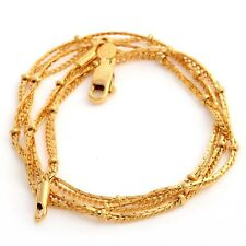 Vintage Jewelry Womens Yellow Gold Plated Yellow Chain Necklace Jewelry 17.5 In