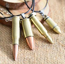 New Fashion Unisex Steel Bullet Pendant Necklace Chain Cool Jewelry Gift Charm