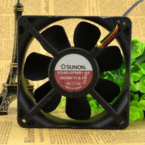 SUNON KD4812PMB1-6A 12038 12CM DC48V 9.1W 3-pin double ball cooling fan