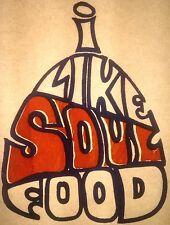 "Original ""I Like Soul Food"" Iron On Transfer Off Center Print Orange Last One"