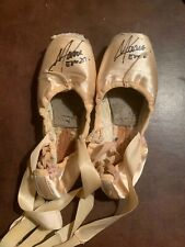 NEW YORK CITY BALLET SIGNED POINTE SHOES PRINCIPAL MARIA KOWROSKI