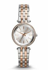 NEW MICHAEL KORS MK3298 LADIES TWO TONE PETITE DARCI WATCH - 2 YEAR WARRANTY