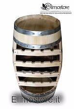 Cantinetta Botte botti legno massello portabottiglie  16 bottiglie grezza