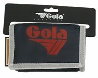GOLA NYLON WALLET WITH COIN POCKET CUB 300 - NAVY / WHITE / RED
