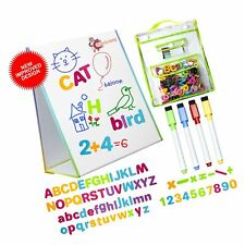 New listing littlemag Magnetic Easel and Whiteboard for Kids - 4 Dry Erase Markers, 72 Ma.