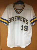 Milwaukee Brewers Jersey #19 Robin Yount size adult S/M SGA