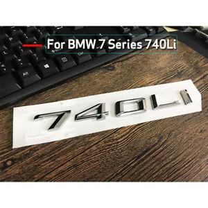 chrome 740 Li  Number Trunk Letters Emblem Badge Stickers for BMW 7 Series 740Li