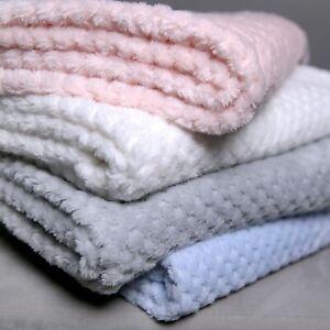 Premium Extra Soft Baby Fleece Blanket Honeycomb Waffle Gift Set For Cot Pram