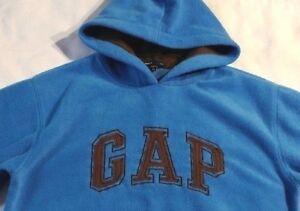Gap Pullover Blue Fleece Hoodie Size XL 12
