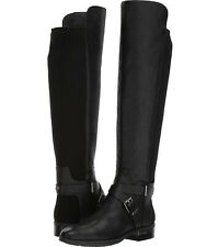 Vince Camuto Paton Sherwood Black Leather Gold Over the Knee Fashion Boot size 7