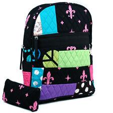 New Women Patchwork Cotton Backpack Rucksack Purse w/ Convertible Shoulder Strap
