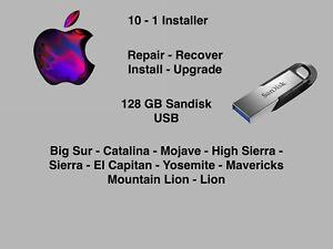 Mac OSX 10-1 USB Flash Drive Bootable Installer 11.3 - 10.7
