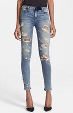 $295 NEW RTA Destroyed Skinny Denim Jeans Distressed Destroyed Soil Jean Size 24